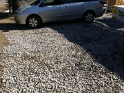Temp gravel in front of garage for mud control.jpg