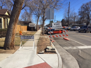 Street & sidewalk closure signs