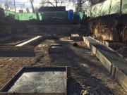 Concrete placed in footings