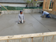 Finishing garage slab