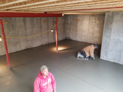 Finishing basement floor