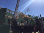 Boom truck lifting trusses