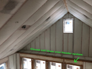 Blown insulation over closed cell foam insulation