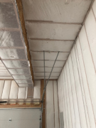 Garage walls & ceiling insulation complete