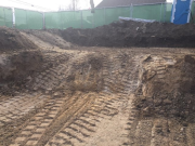 Over excavation at garage